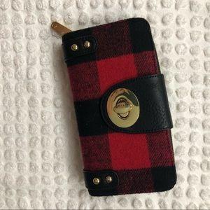 Handbags - Red Plaid Wallet!